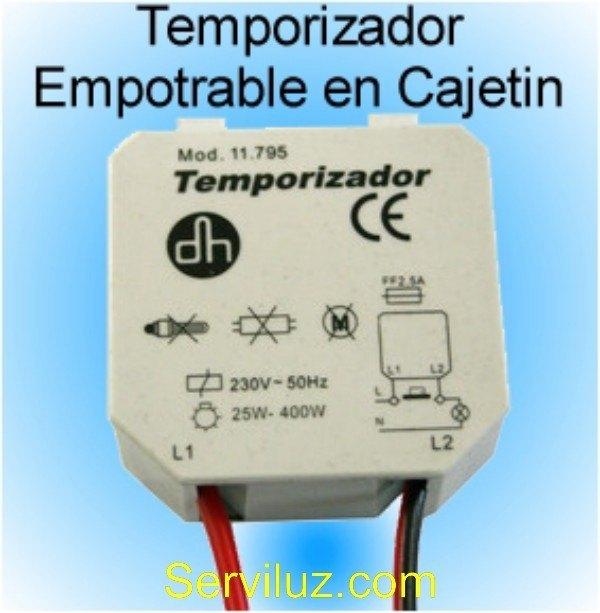 Temporizador electronico empotrable cajetin 9 - Temporizadores de luz ...