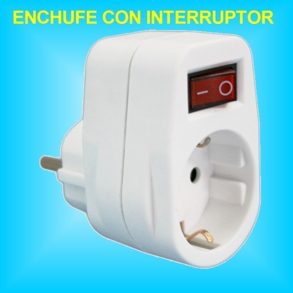 Base 1 toma enchufe con interruptor incorporado de 16a 250v - Enchufes con interruptor ...