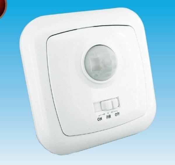 Interruptor detector de movimiento sensor pir de 120 for Luz con detector de movimiento