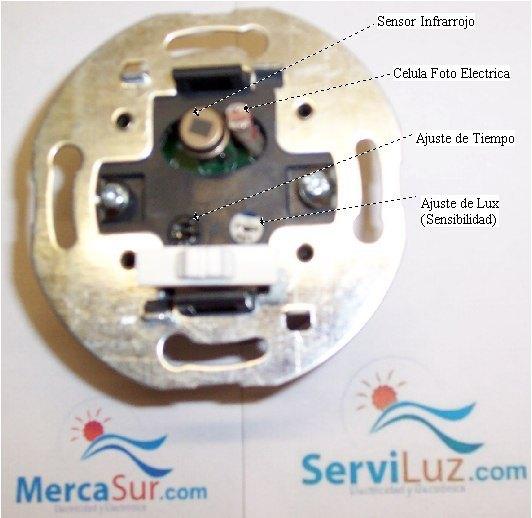 Interruptor detector de movimiento sensor pir de 120 - Sensor de movimiento para luz precio ...