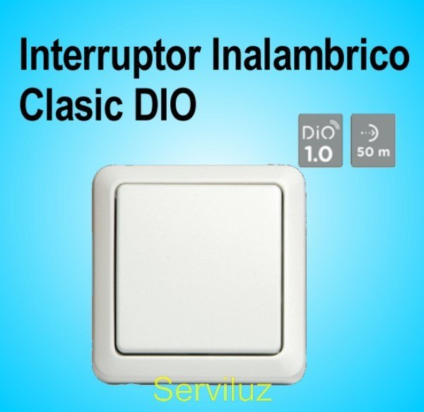 Interruptor Inalambrico de Pared Clasic DIO