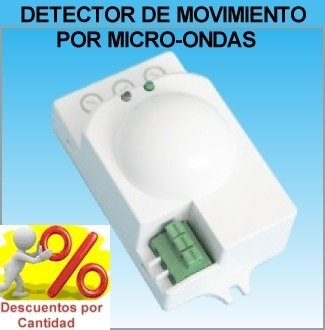 Detector de movimiento presencia radar por microondas for Luz con detector de movimiento