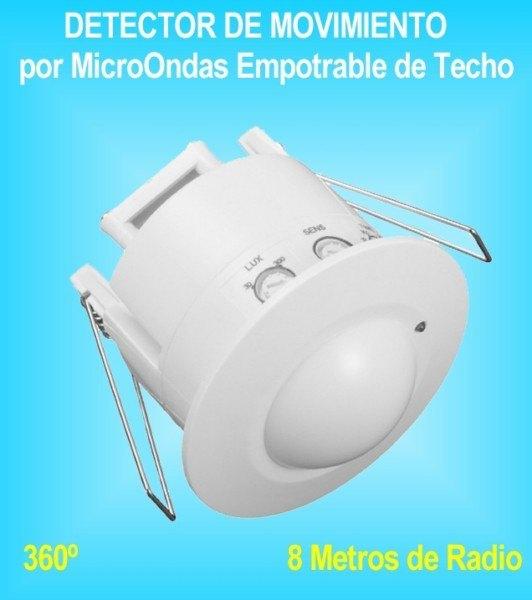 Detector de movimiento o presencia pir por sensor infrarrojos - Sensor de movimiento luz ...