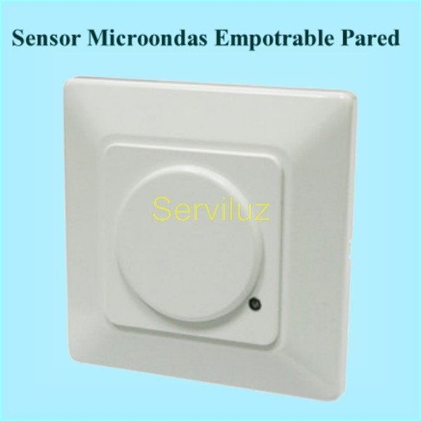 Detector de movimiento Sensor Microondas Empotrable de Pared
