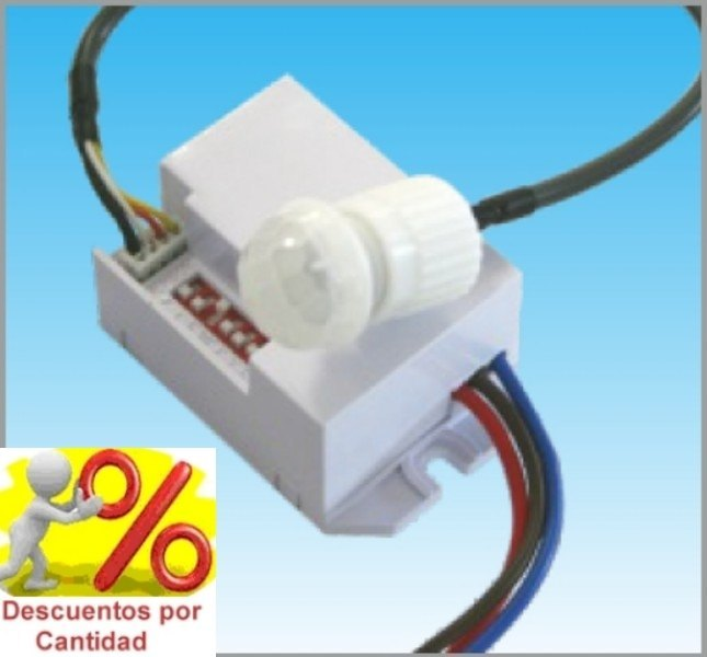 Detector de Movimiento Presencia Empotrable Mini Sensor pequeno