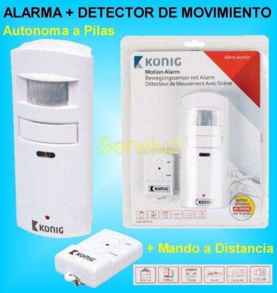 Alarma con Detector de Movimiento y