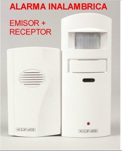 alarma inalambrica detector de movimiento sensor pir