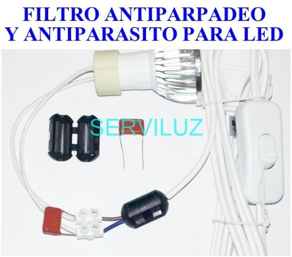Filtro Anti-Parpadeo y Antiparásitos (Interferencias) para LED