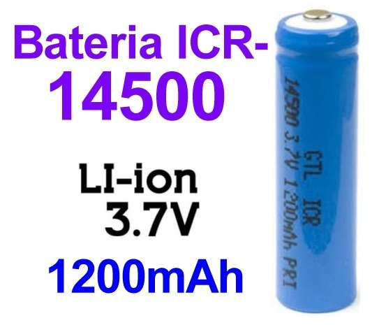 Pila-Batería ICR 14500 recargable 3.7v
