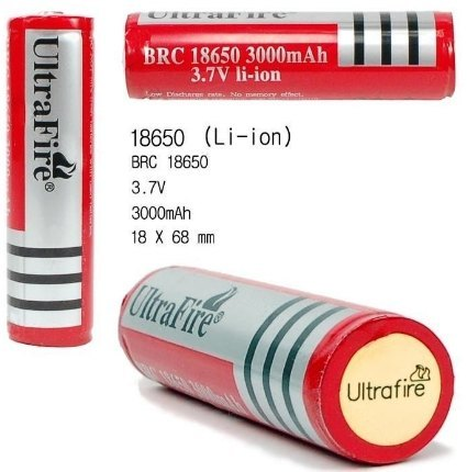 Pila Bateria 18650 Litio Ion Recargable de 3000mAh