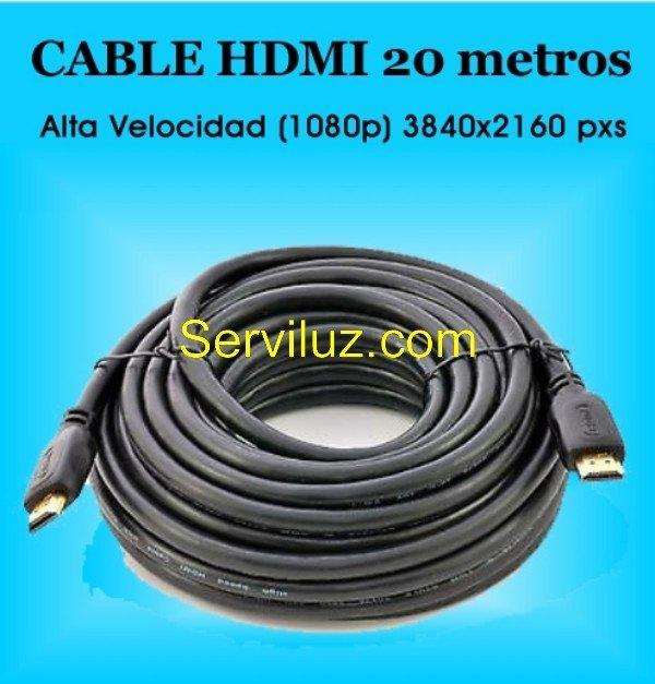 Cable hdmi 20m de alta calidad 1 4 alta velocidad y baja for Cable ethernet 20 metros