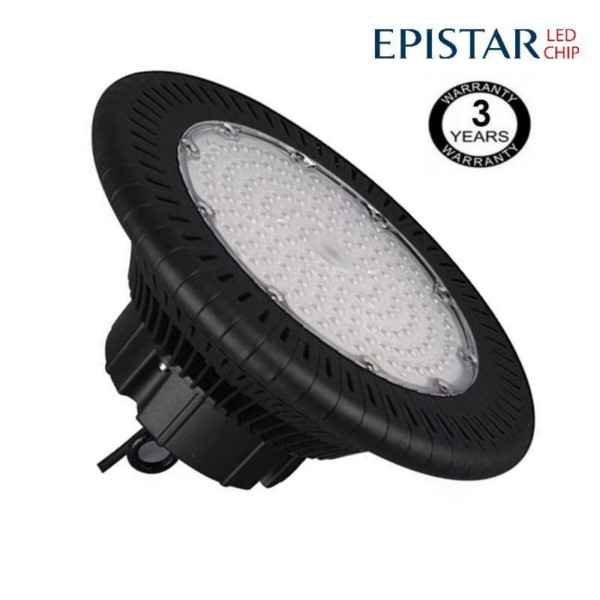 Campana industrial LED UFO 100W Epistar 3030-3D 125lm w IP65 6000K