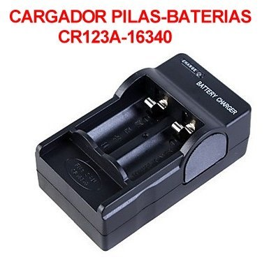 Cargador Baterias Pilas CR123A 16340 Digital doble