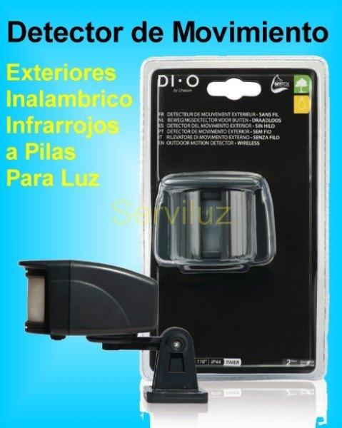 detector de movimiento presencia exterior inalambrico para luz a pilas sensor detector de