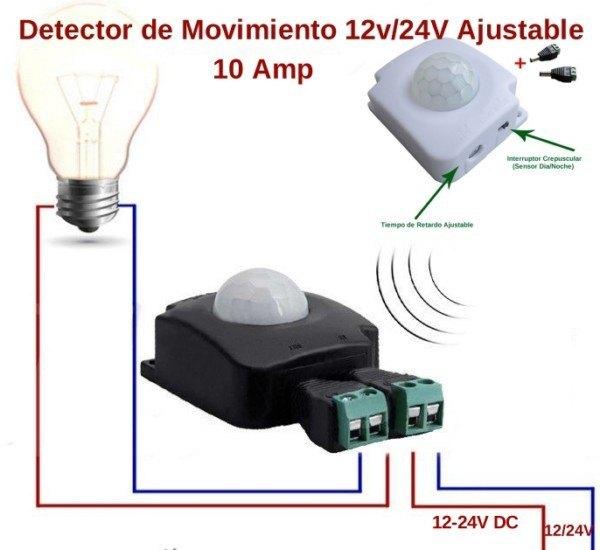 Detector de movimiento o presencia pir por sensor infrarrojos - Detector de movimiento ...