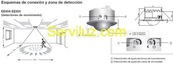 Detector de movimiento empotrable en techo sensor de 360 - Detector de movimiento para luces ...
