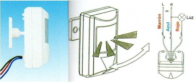 Detector de movimiento presencia orientable mini pir interruptor detector de movimiento - Sensores de movimiento para iluminacion ...