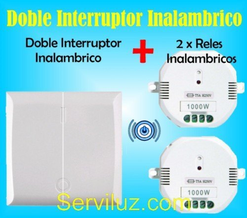 Doble interruptor inalambrico 2 x rele a distancia for Interruptor a distancia