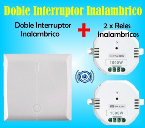Doble interruptor inalambrico 2 x rele a distancia for Interruptor inalambrico luz