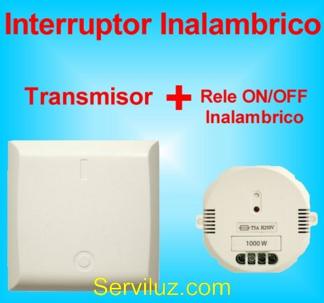 Interruptor Inalambrico de Luz + Receptor Rele ON OFF