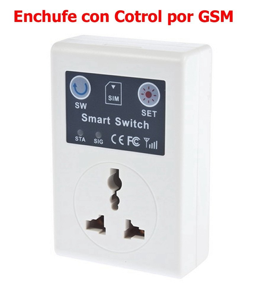 Enchufe Gsm con Control remoto por movil