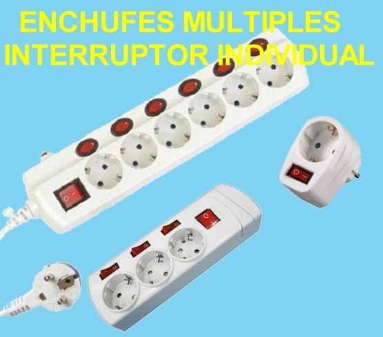 Enchufes Multiples Interruptor