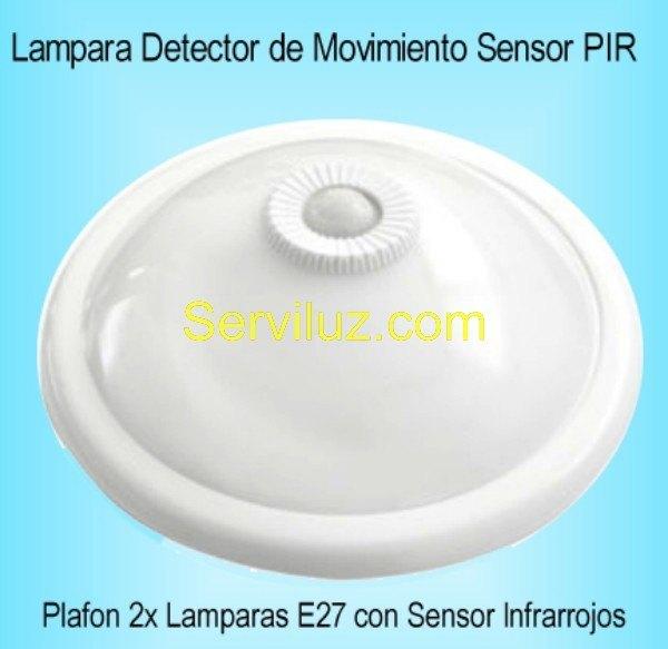 Lampara sensor detector de presencia movimiento plafon pir - Lamparas con detector de presencia ...