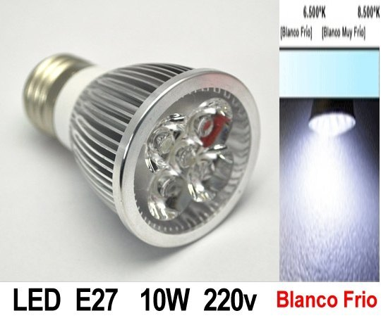 BOMBILLA LED de 10W de potencia E27 Color Blanco