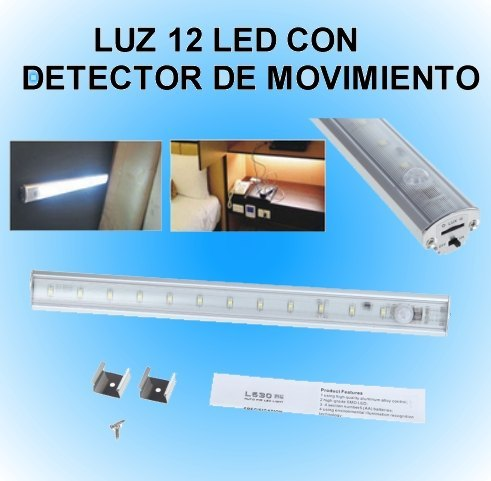 Luz 12 led con detector de movimiento sensor pir luz 12 - Detector de movimiento para luces ...