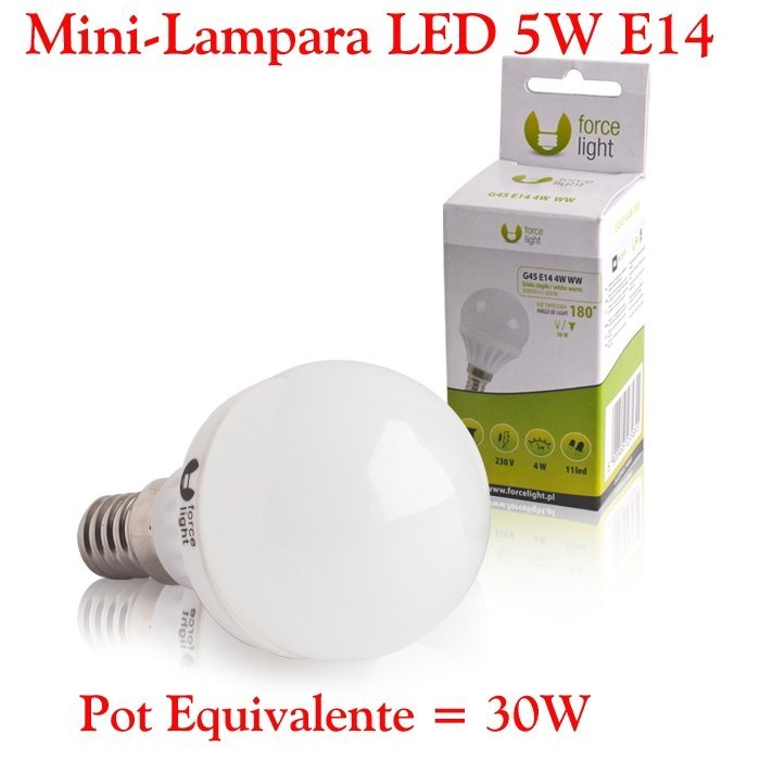 Mini Bombilla Lampara LED E14 5W Bombilla LED E14 5W Calida