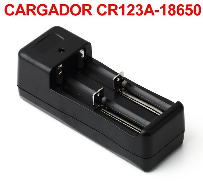 Cargador CR123A 16340 18650 Recargables Litio Ion Doble