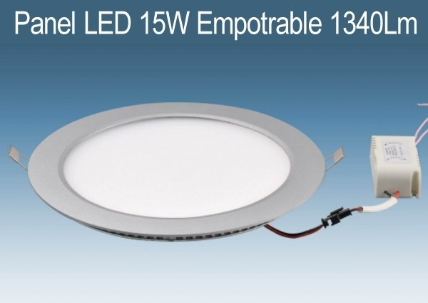 Panel DOWNLIGHT LED 15W Empotrable Blanco de 1340Lm