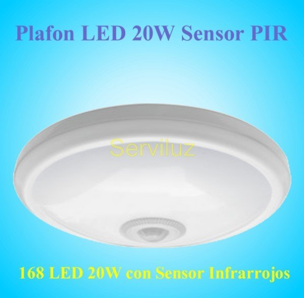 Plafon LED Sensor de Movimiento 20W Lampara LED con Detector de Movimiento PIR