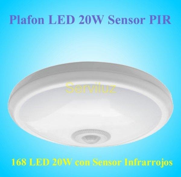 Luz luces con sensor de movimiento crepuscular noche dia for Plafon pared led con sensor pir