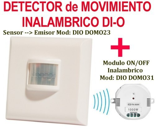 Interruptor Detector de Movimiento inalambrico + (rele ON OFF Sensor Inalambrico
