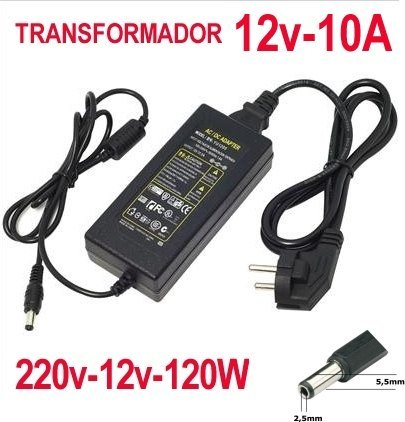 Transformador 12v 10a transformador fuente de alimentacion for Transformador 12v a 220v