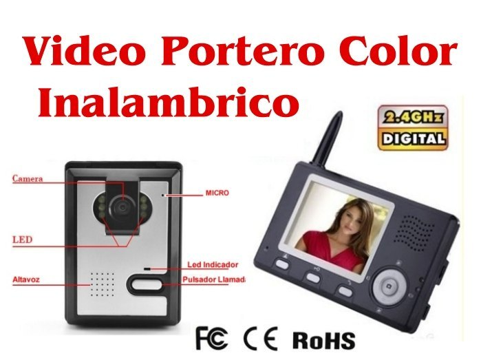 Videoportero Inalambrico Video-Portero con Pantalla a Color
