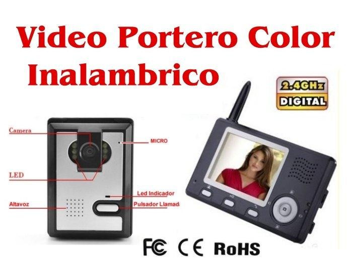 Videoportero Inalambrico Video-Portero con Pantalla a